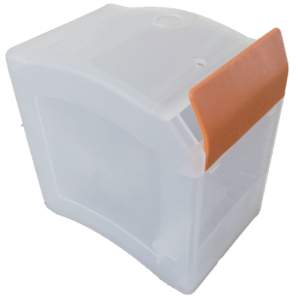 side loader dispenser orange